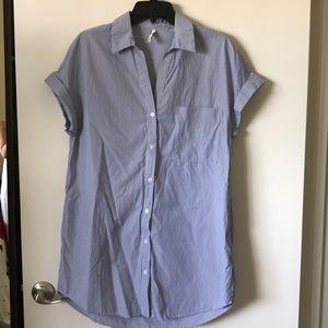 Blue & white pin stripe shirt dress